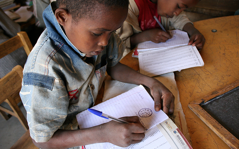 An accelerated learning program in Ethiopia.