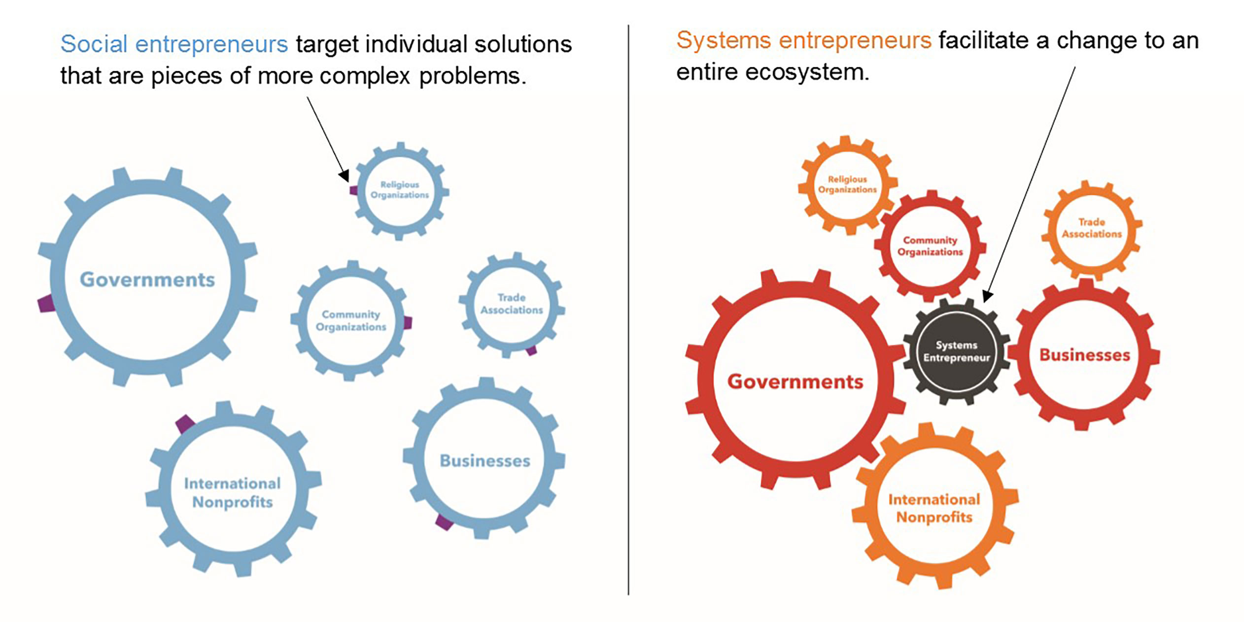 The difference between social and systems entrepreneurs