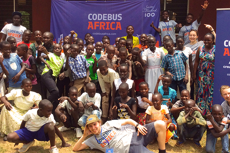 CodeBus Africa students